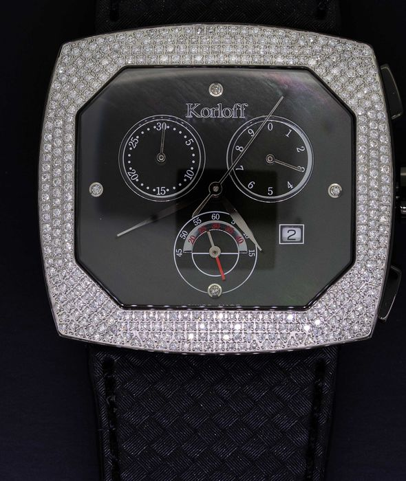 Korloff - Diamonds for 1,50 Carats Chronograph Transparence Black Swiss Made  - TKCB/4  - Unissexo - BRAND NEW