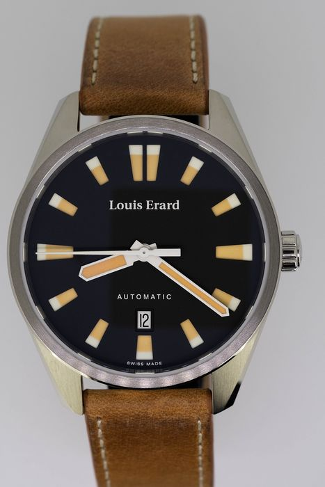 Louis Erard - Automatic Watch Sportive Collection Beige  - 69108AA02.BVD18 - Men - Brand New