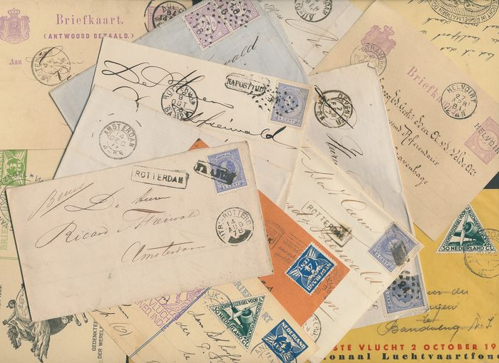Pays-Bas 1878/1937 - Folding letters, postcards and airmail