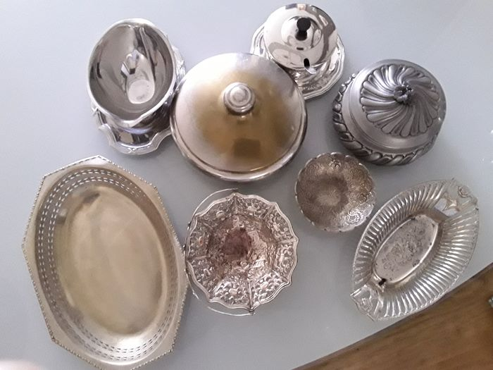 Collection (8) - Neoclassical - Silverplate, Fine tin stainless steel