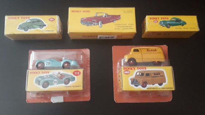 Atlas-Dinky Toys - 1:43 - Ref. 157, 111, 555, 480, 181 - Lot 5 new sealed models