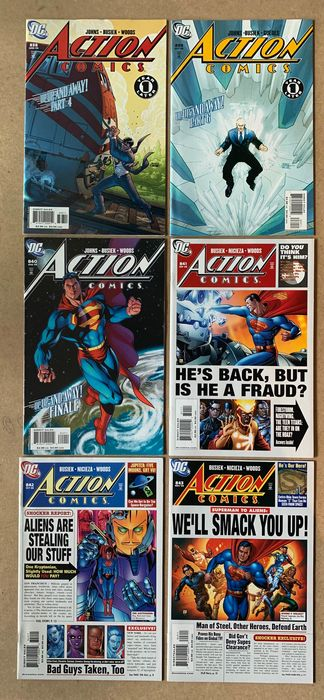 Action Comics - 49X Complete Run - #838-884 + Two Annuals. Geoff Johns stories & Gary Frank art - Superman, Supergirl, Firestorm, Nightwing, Neutron, Radion, Lex Luthor, Titans, Bizarro, General Zod - Softcover - First edition - (2006/2010)