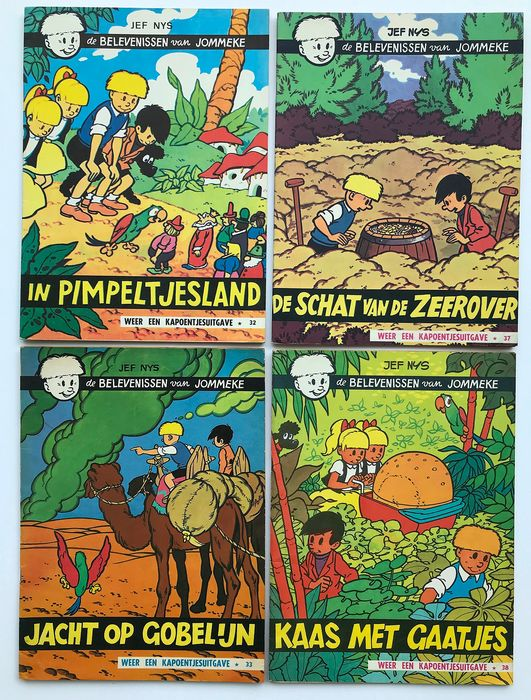 Jommeke - 4 x Jommeke nrs 32-33-37-38 - Stapled - First edition - (1967/1969)