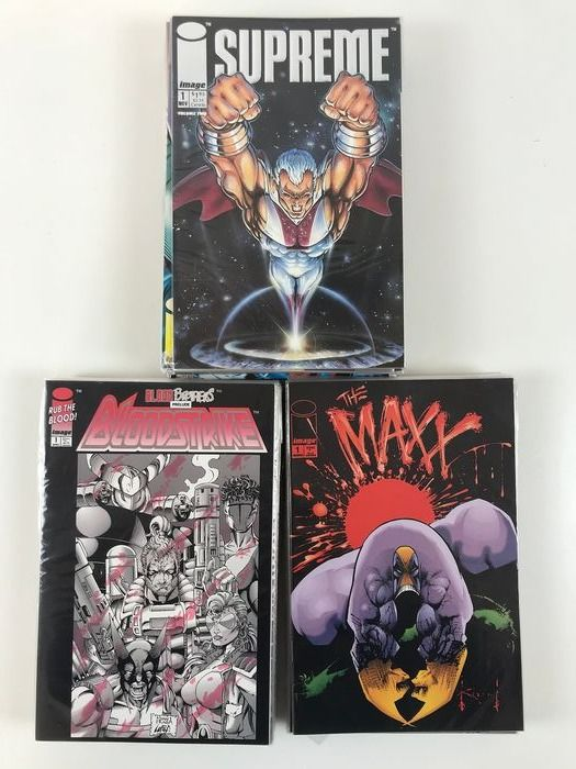 Supreme, The Maxx, BloodStroke - 53x Issue, x3 complete series - First edition - (1992)