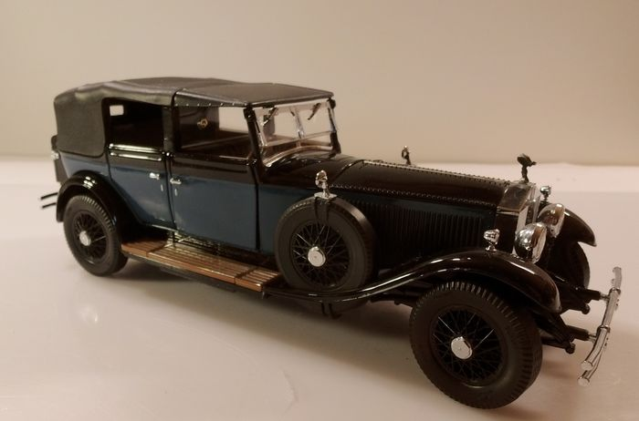 """Franklin Mint - """"Rolls Royce Phantom I, 1929 - 1:24 - 1A TOP collector condition - from over 100 individual parts handmade, with original Fr.M. Pendant - metal, wood, paint, textile"""