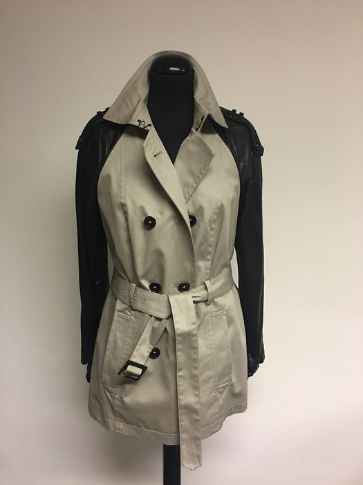 Drykorn for beautiful people - Trench coat with leather - Size: EU 44 (IT 48 - ES/FR 44 - DE/NL 42)