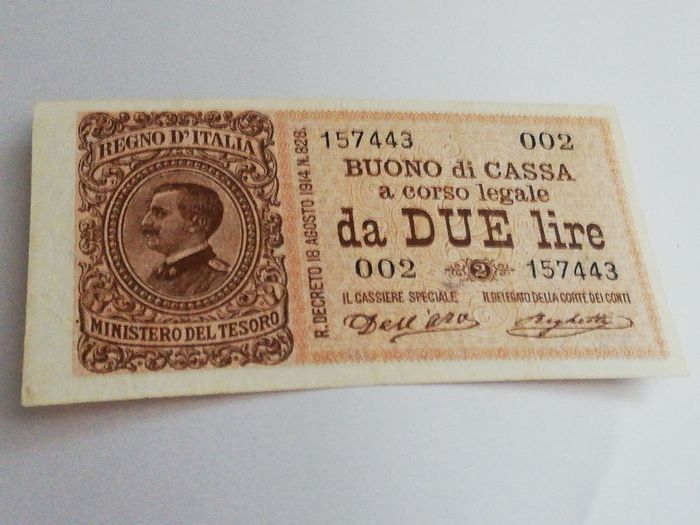 Italy - 2 Lire 2-9-1914 - Gigante BS 7A