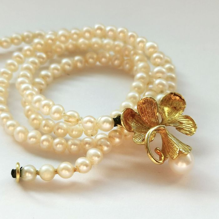 18 kt. Yellow gold - Necklace Pearl