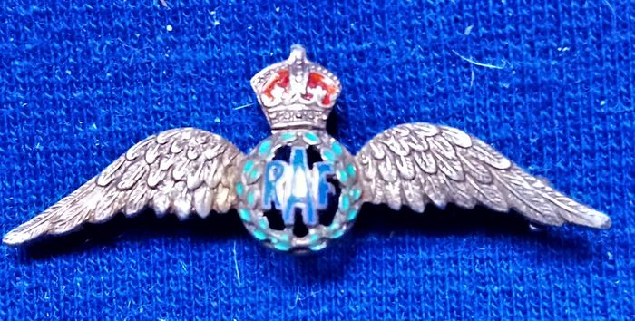 United Kingdom - RAF WW2 Period - /Wings Silver & Enamel-3 colours
