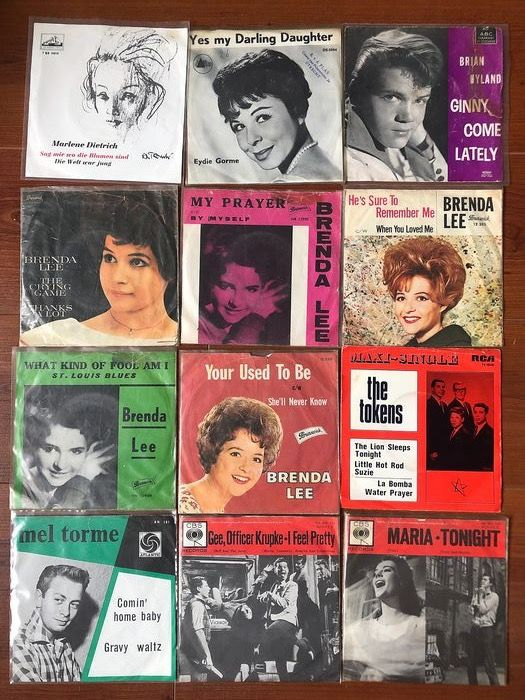 Twenty-four Hit Records from the early Sixties  - Multiple artists - Dion, Eydie Gorme, Brian Hyland, Brenda Lee, Del Shannon etc.  - Multiple titles - 45 rpm Single - 1960/1972