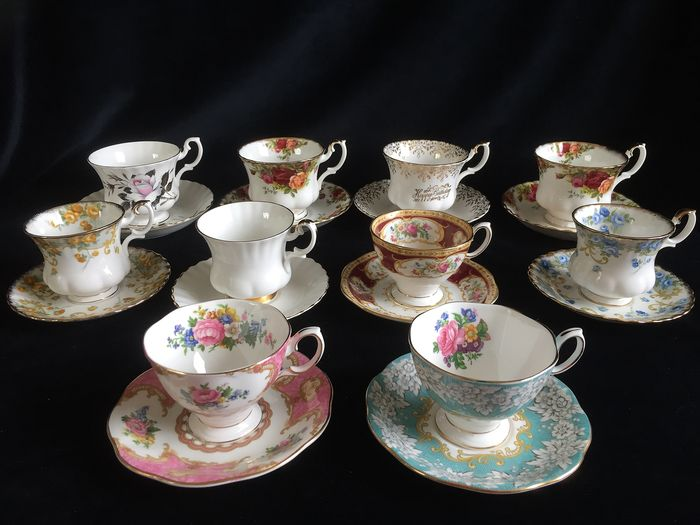 Royal Albert - Cups and saucers (10) - Romantic - Porcelain