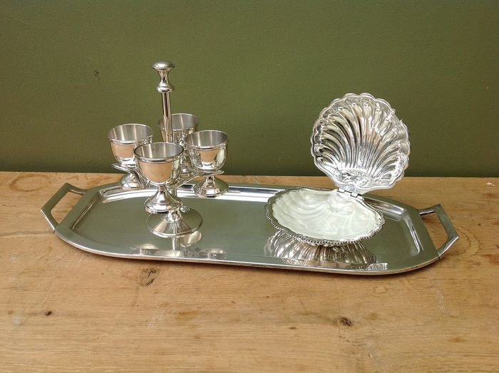 sublime breakfast set for 4 people - Silverplate