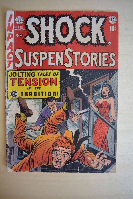 Shock SuspenStories #10 - Junkie story - Jolting tales of Tension in the tradition! - Brossura - Prima edizione - (1953)