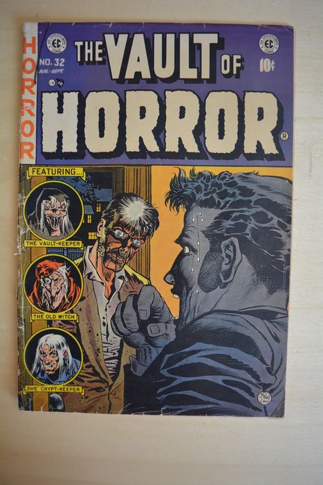 The Vault of Horror #32 - Censured-c - Featuring - the vault-keeper - the old witch - the crypt-keeper - Softcover - First edition - (1953)