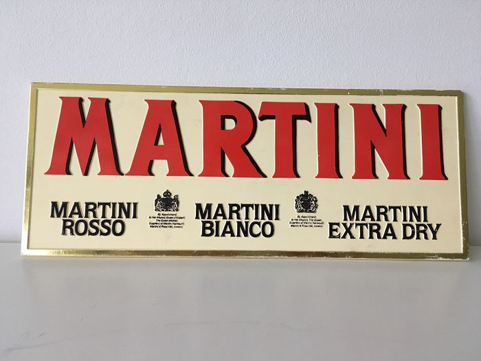 Martini - advertising plate Martini Rosso, Bianco & Extra Dry (1) - Plastic