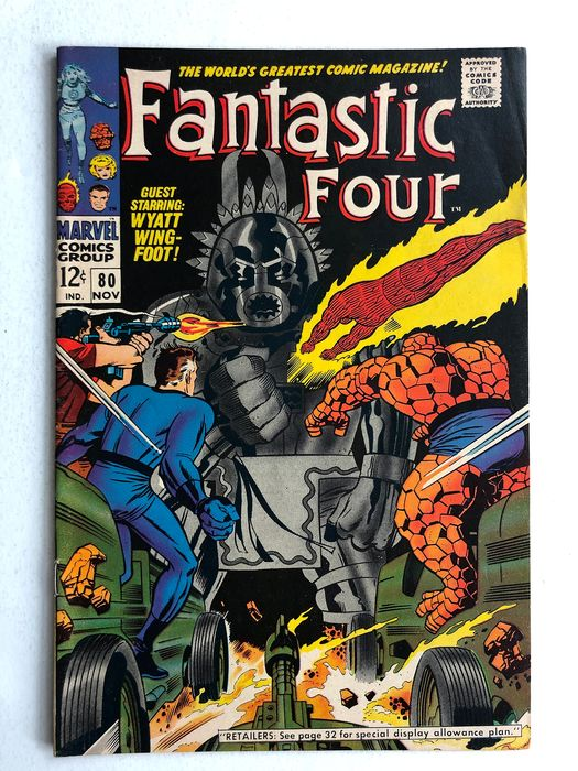 Fantastic Four #80 - 1st Appearance Of Tomazooma - High Grade!!! - Softcover - First edition - (1968)
