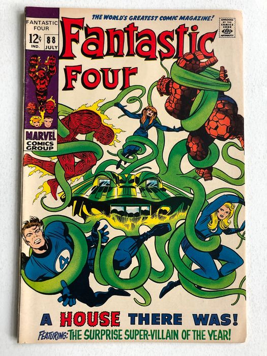 Fantastic Four #88 - Mole Man Appearance - High Grade - Softcover - First edition - (1969)