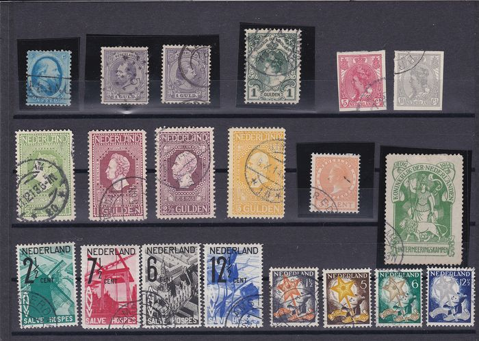 Pays-Bas 1864/1952 - Selection stamps inc. ANVV, Sailor stamps, ITEP