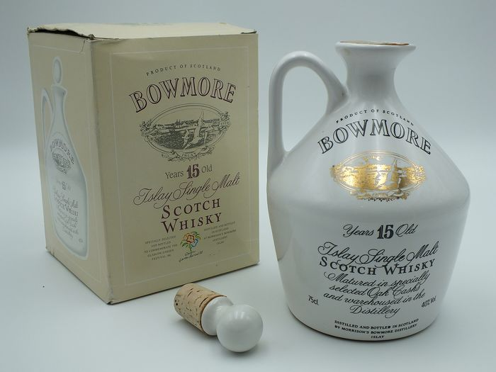 Bowmore 15 years old Glasgow Garden Festival Decanter - b. 1988 - 75cl