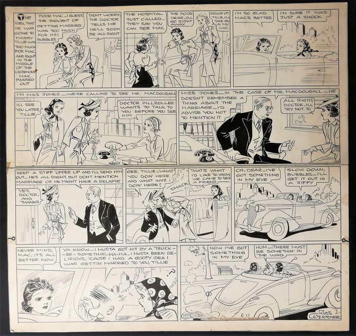 Newspaper strip original art by buckler