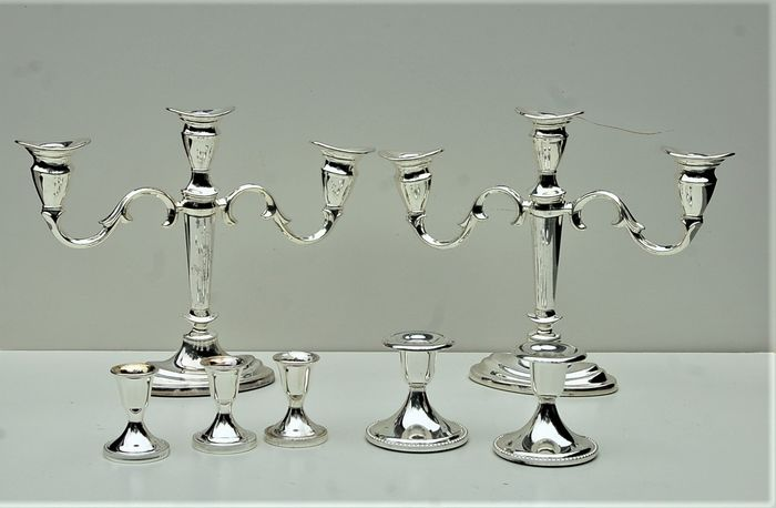 Candlesticks (7) - Silverplate