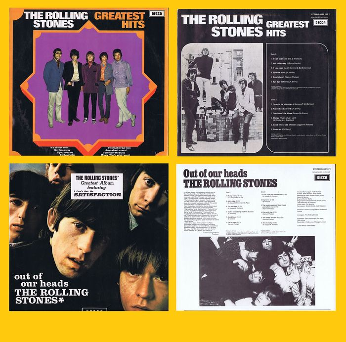 Rolling Stones - 1. Out Of Our Heads (70s) 2. Greatest Hits (1970) - (lot of 2 LPs) - 1970/1970