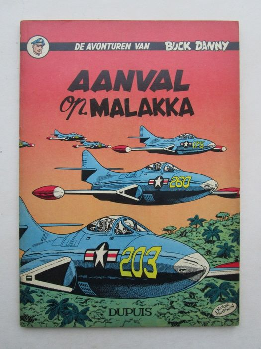 Buck Danny 18 - Aanval op Mallaka - Softcover - First edition - (1958)