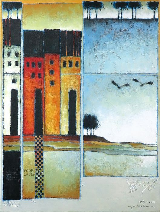 Magda Luttikhuizen (1949) - Houses on the waterfront