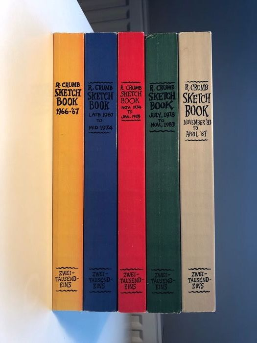 Robert Crumb Sketchbooks - 5 volumes 1966 to 1987 - Softcover - Neuauflage - (1980/1987)