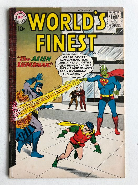 World's Finest #105 - The Alien Superman - Higher Grade!! - Softcover - First edition - (1959)