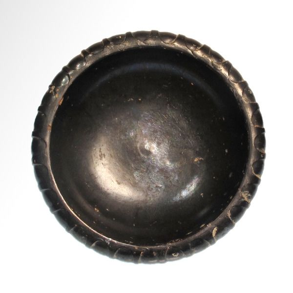 Greek, South Italian colonies of Campania Terracotta Black Glazed Bowl