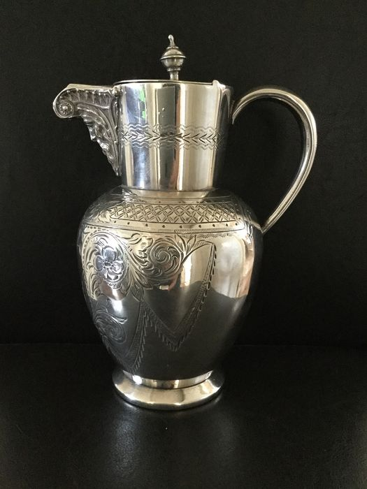 Unknown - Hot water jug (1) - Silver plated