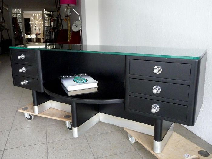 Art Deco Sideboard with Drawers  - Cabinet France around 1935 (restored)