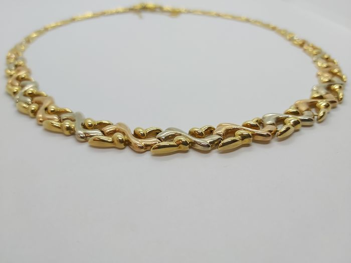 18 kt. Pink gold, White gold, Yellow gold - Necklace
