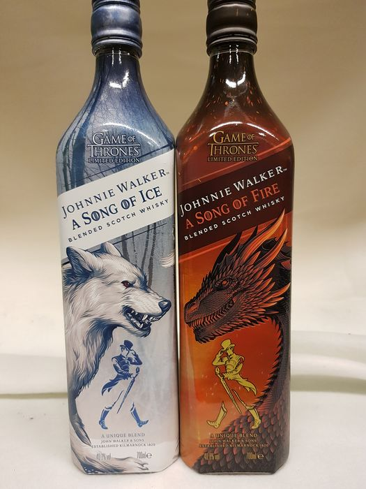 Johnnie Walker A Song of Ice - A Song of Fire  - 0.7 Ltr - 2 bottles