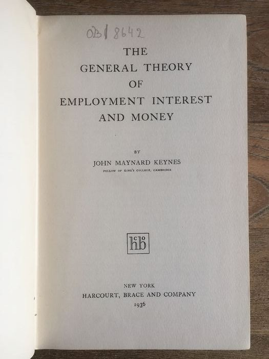 J.M. Keynes - The General Theory of Employment, Interest and Money - 1936