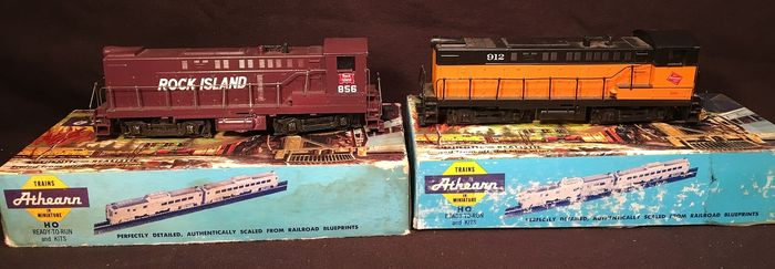 Athearn H0 - Diesel locomotive - SW-12 & C7 W - Rock Island , The Milwaukee Road
