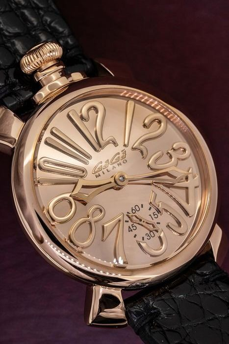 GaGà Milano - Mechanical Manuale 48MM Rose Gold Mirror Limited Edition of 500   - 5013 - Unisex - BRAND NEW
