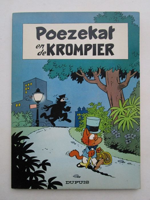 Poezekat en de krompier 1 - Poezekat en de krompier - Softcover - First edition - (1965)