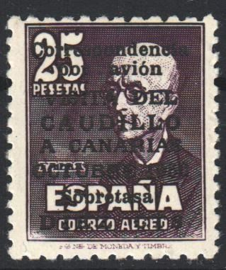 Espagne 1950 - 'Visita del Caudillo a Canarias' (Visit of Franco to the Canary Islands), without control number. - Edifil 1083