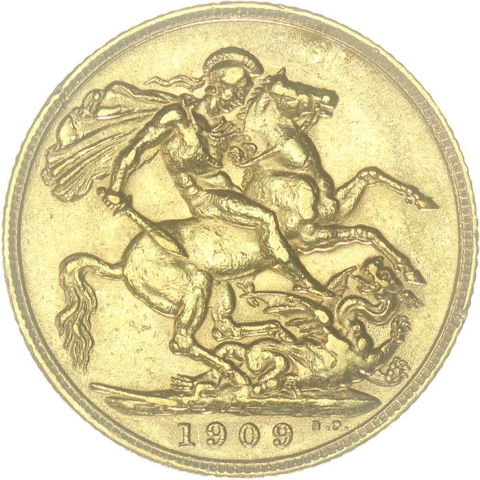 United Kingdom - Sovereign 1909 (London) Edward VII  - Gold
