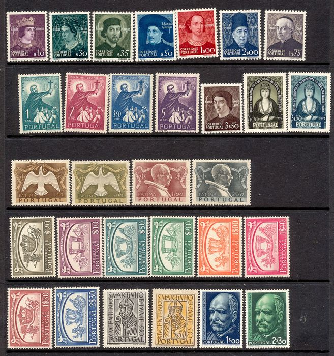 Portugal 1949/1956 - Lot of 7 Series.