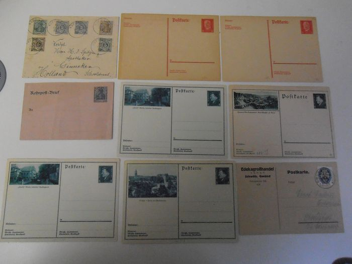 German Empire 1872/1932 - 387 letters and postcards