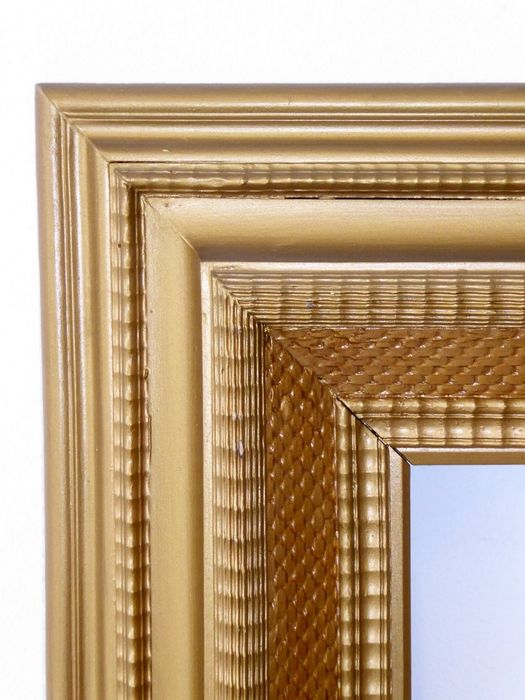Antique year frame 1860 in Gold Decorated Wood Piece
