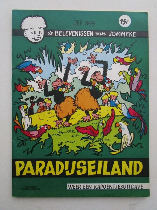 Jommeke 12 - Paradijseiland - Softcover - First edition - (1962)