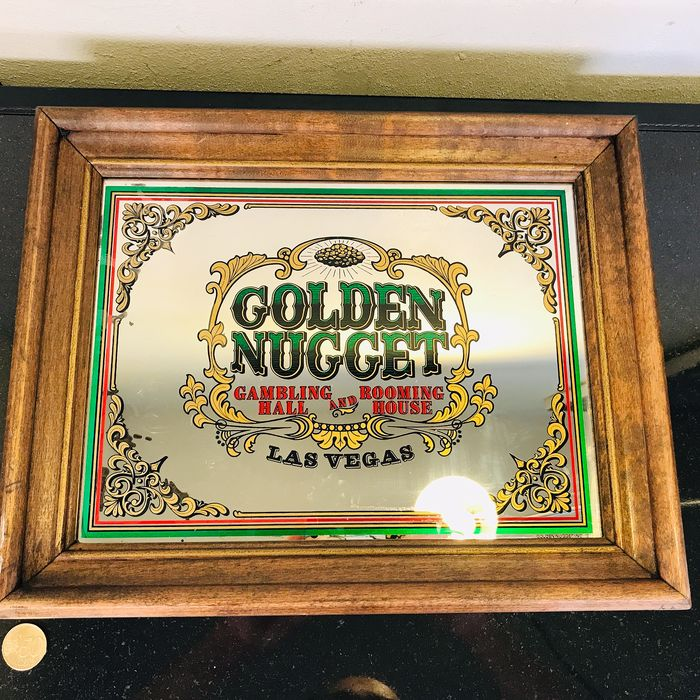 Golden Nugget Casino - Original American mirror - USA - LA - 1977 - Glass, Wood
