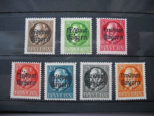 Bavaria - Postage stamps Michel No. 1/6 and No. 25/31