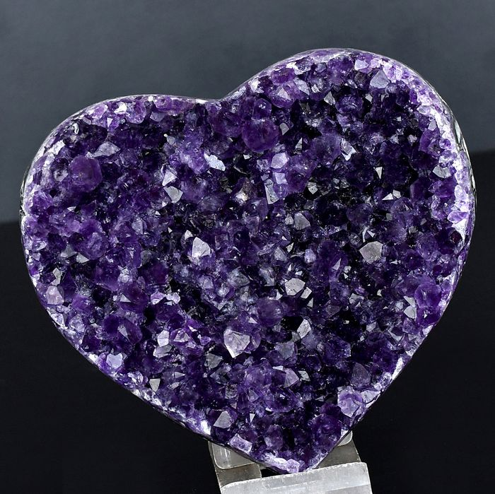 First quality uruguayan Amethyst heart - 12.6×12.1×4.6 cm - 564 g
