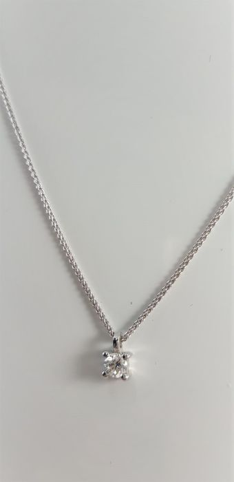 Crivelli - 18 kt. White gold - Necklace with pendant - 0.26 ct Diamond