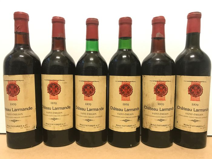 1970 Château Larmande  ( Belgian bottled ) - Saint-Emilion Grand Cru Classé - 6 Bottles (0.75L)